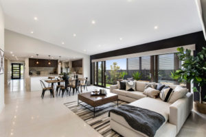Builder Select Showhome Living Room White Interior